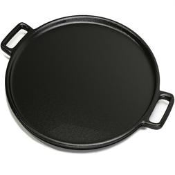 14 Inch Cast Iron Pizza Pan Skillet Cooking Baking Grilling