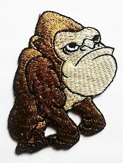 Cartoon animals cute smile patch of Iron King Kong.
