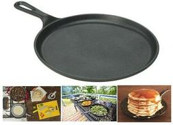Cast Iron Pan For Pancakes LODGE Pizza Dosa Eggs Oven Gas St