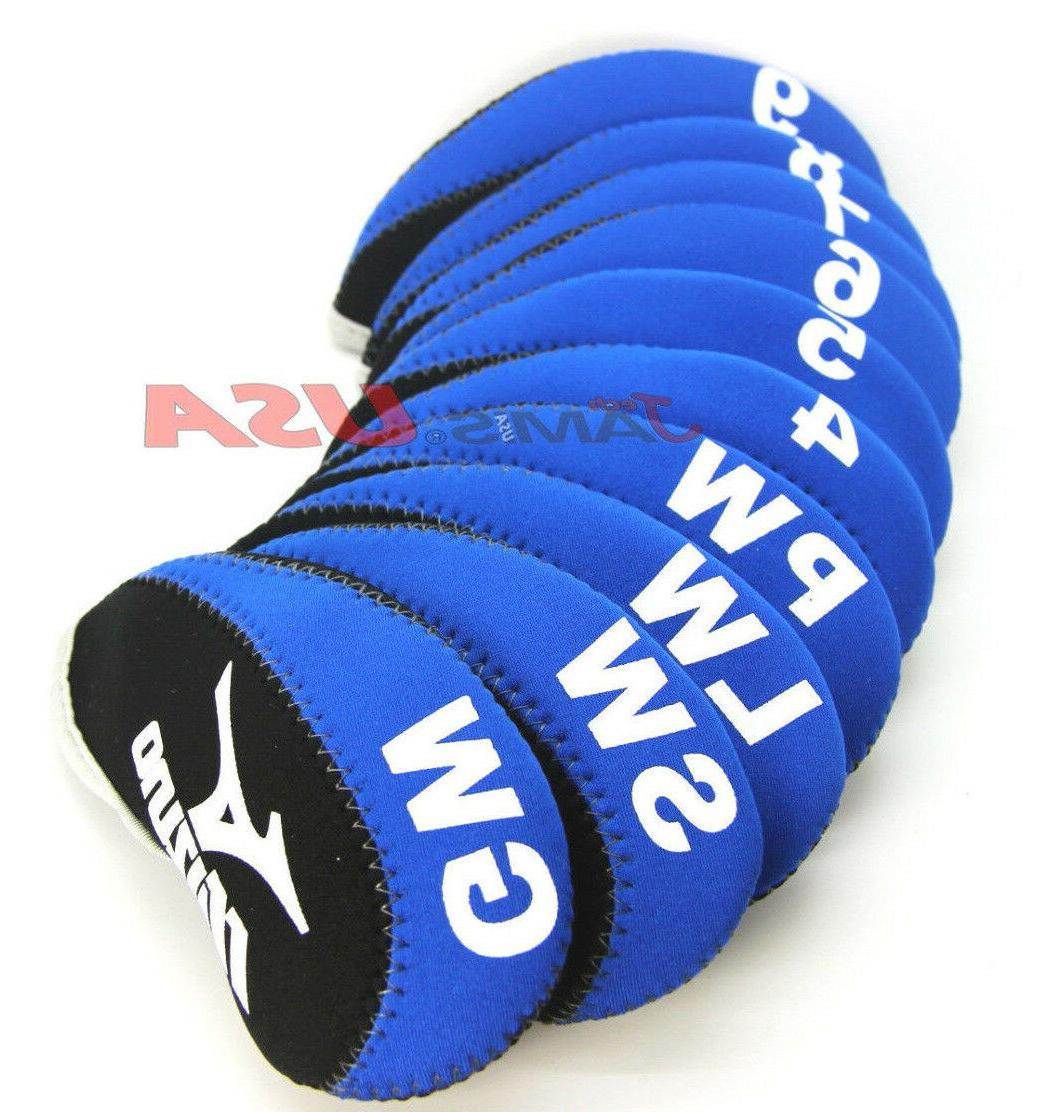 black and blue color golf iron headcover
