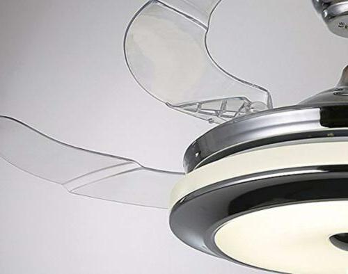 """Modern 36"""" Ceiling Fans with 3-Color LED Light"""