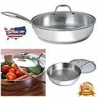 Stainless Steel Skillet Frying Pan Non Stick Kitchen Cookwar