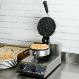 Single Non-Stick Cast Iron Electric Waffle Maker with Timer