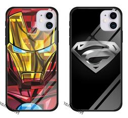 Superman Iron Man Glass case cover for iPhone 11 Pro XS 8 Sa