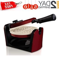 Waffle Maker Belgian Flip Low Profile Rotating Easy Non Stic